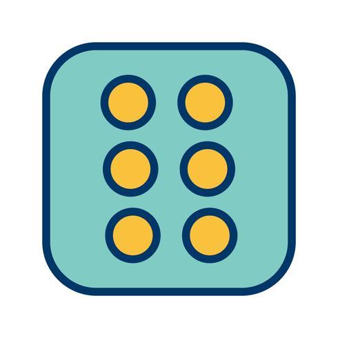 Dadi Six Vector Icon