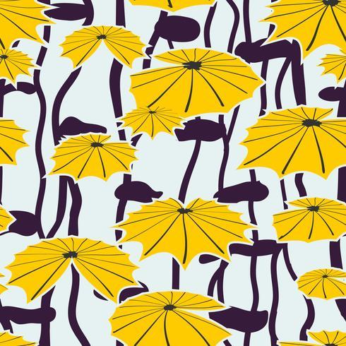 Naadloze gele lotus als achtergrond in vijver.