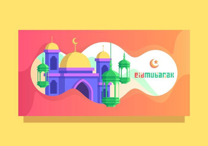 Lantaarn Eid Mubarak Vector