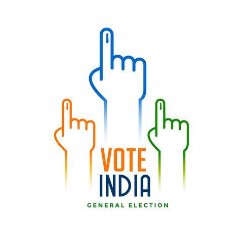 mano con signo de votación para la elección