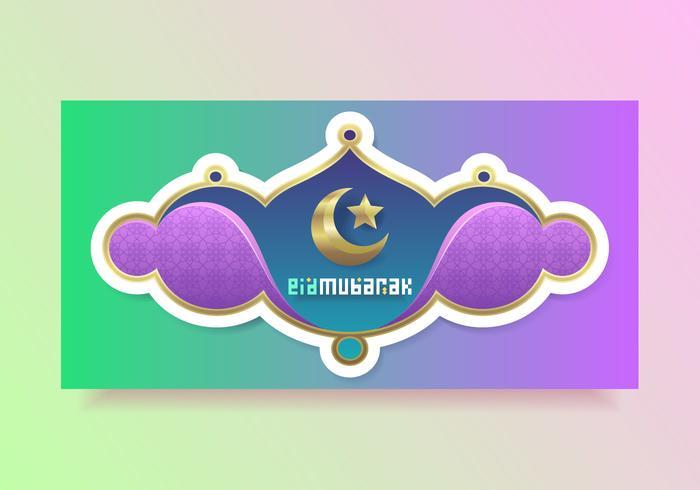 Beautiful Eid Mubarak Vector Template