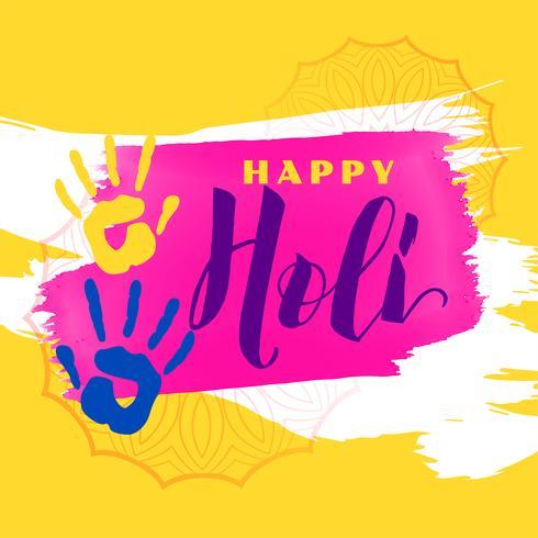 abstrakt glad holi bakgrund med färg händer