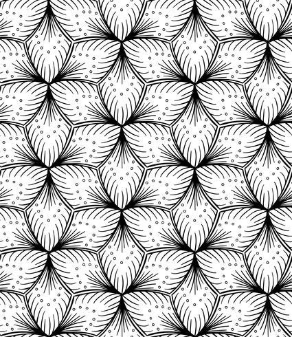 Desenho de mão sem costura padrão alinhado.