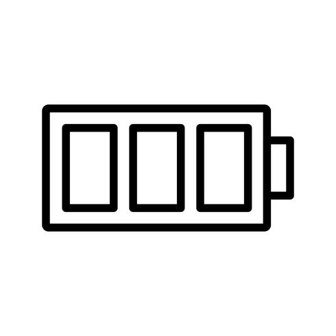 Volle batterij vector pictogram