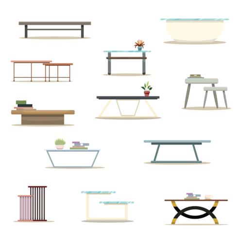 Mesas de café em conjunto de configuração de restaurante