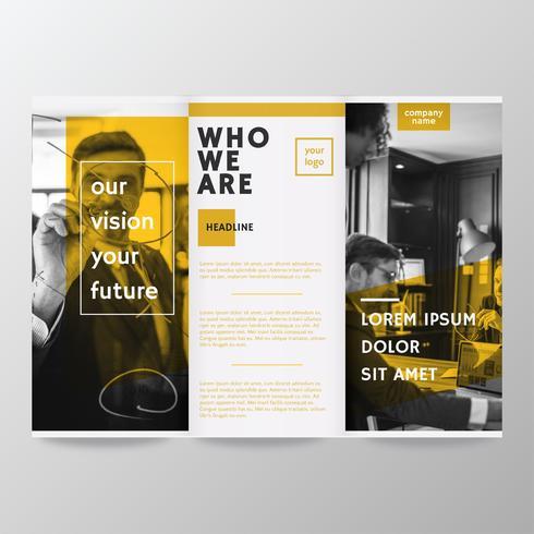 Modèle de brochure design de vecteur