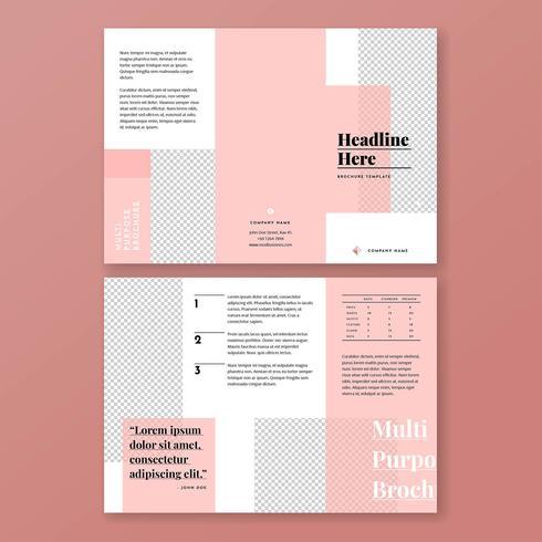 Modèle de Brochure de rose minimaliste