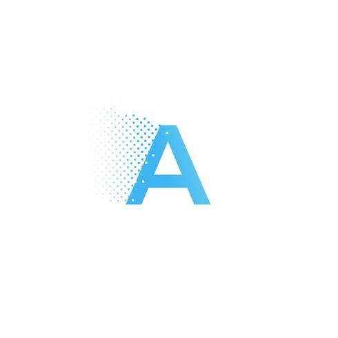 Pixel typography letter logo. Technological modern font calligraphy logotype. illustration