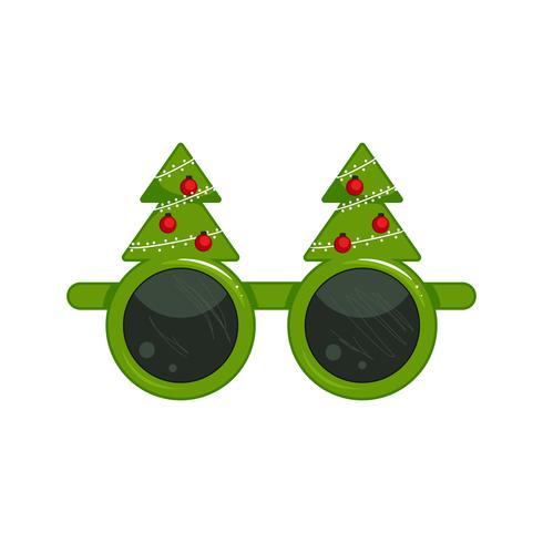 Nyårsmaskar för foton. Jul clipart. Vektor tecknad illustration
