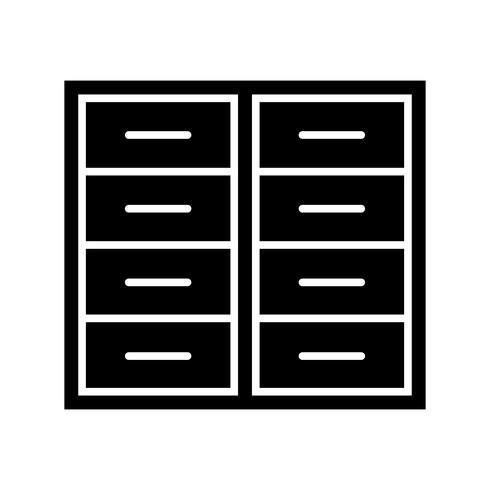 Glyphe noir icône