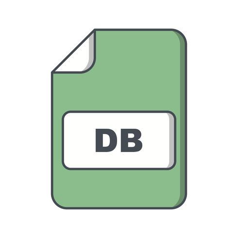 icona di vettore db
