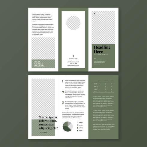 Minimalist Olive Green Brochure Template
