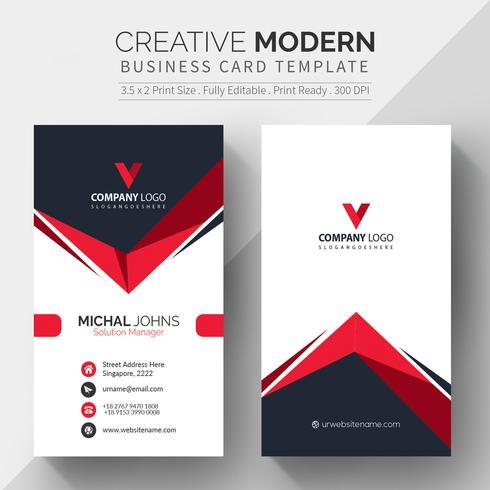 Elegantes Unternehmenskarte-Vektordesign