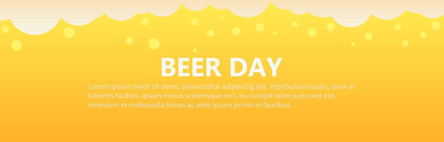 Bier dag banner achtergrond. Platte vectorillustratie