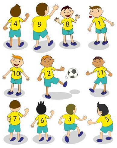Equipo de fútbol vector