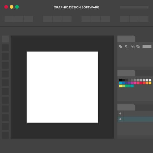 Graphic Designer Software Working Space Illustration Concept
