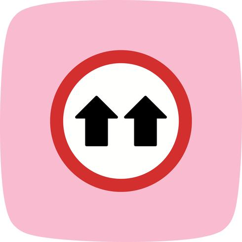 Vector Give Way IconVector Give Way Icon