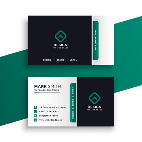 modelo de design elegante cartão profissional