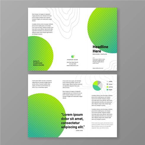 Minimalist Green Vivid Color Brochure Template