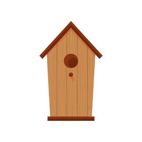Birdhouse de madeira marrom com furo circular