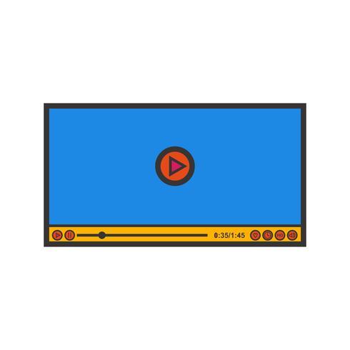Symbol für Video-Player-Zeile