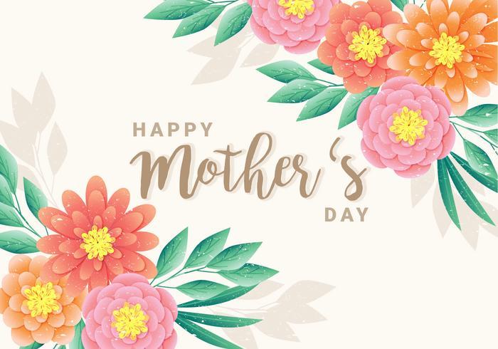 Vector feliz dia das mães