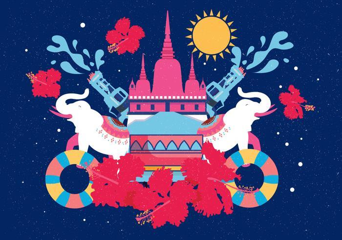 Festival de Songkran Vector