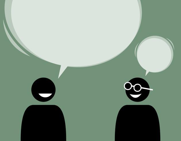 Dois amigos homem falando e concordam uns com os outros.