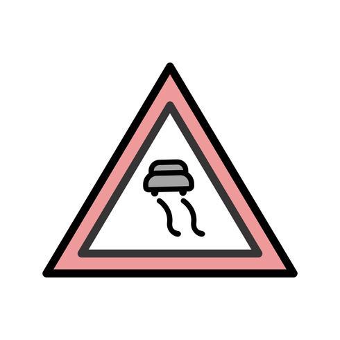 Vektor Slippery roads Ikon