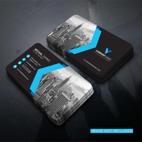 Conception de vecteur de carte entreprise élégant bleu