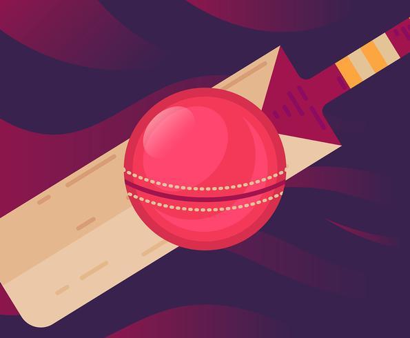 Illustrazione della palla da cricket