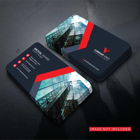 Schöne moderne rote Visitenkarte freier Vektor