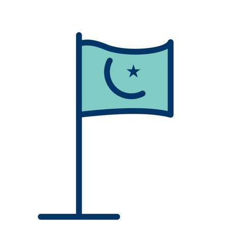 Ícone de vetor de bandeira islâmica