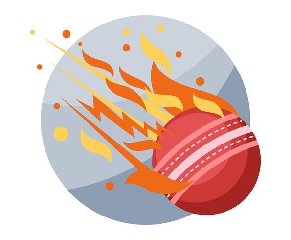 Ilustração de bola de críquete vetor