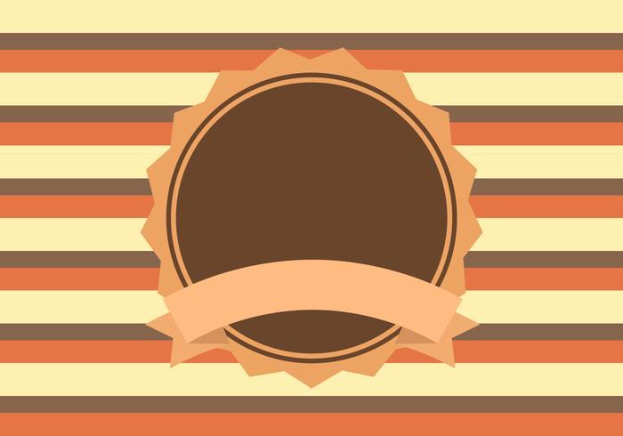 Vetor de fundo retrô amarelo laranja marrom