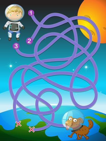 jeu de puzzle enfant astronaute