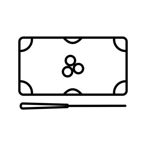 Ícone de linha preta vetor