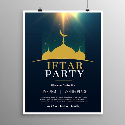 Iftar Party Einladung Template-Design