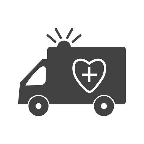 Krankenwagen Glyph Black Icon