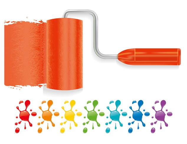 Paint brush vector design illustration template