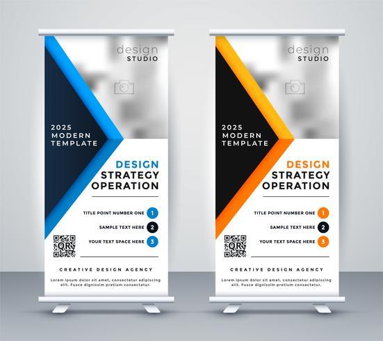 professionelles Geschäft Rollup Banner Standee Design
