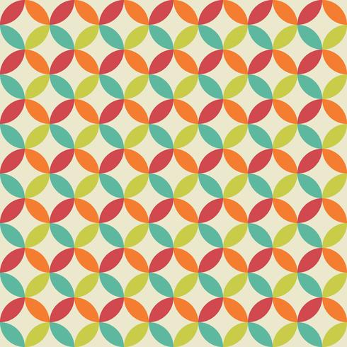 Retro eingekreistes Muster