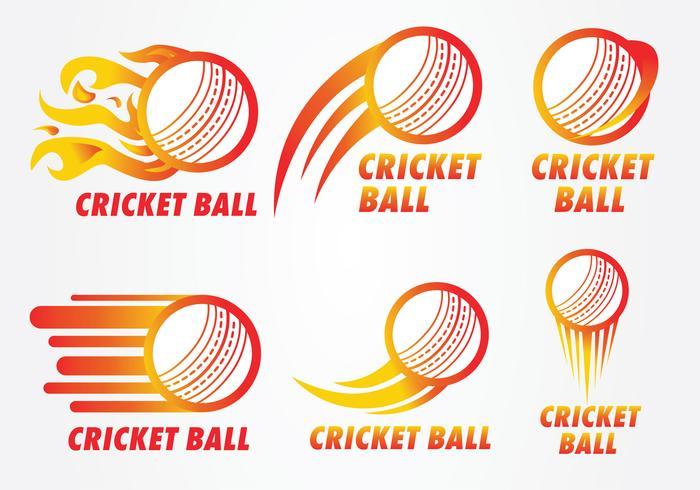 Pacchetto di vettore di logo palla da cricket