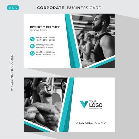 Modelo de cartão de negócios de fitness
