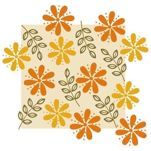 Modelo de ilustração de design de vetor de padrão de flor