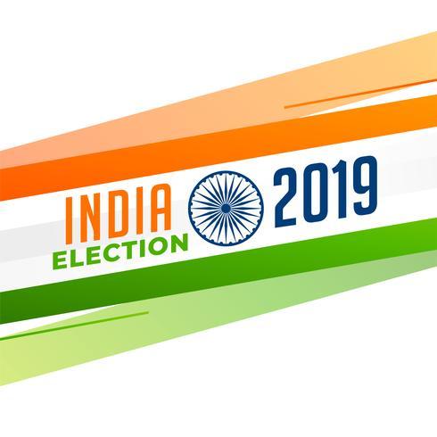 diseño de fondo de la bandera India elección