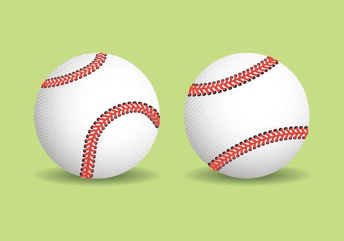 Ilustração realista de beisebol vetor