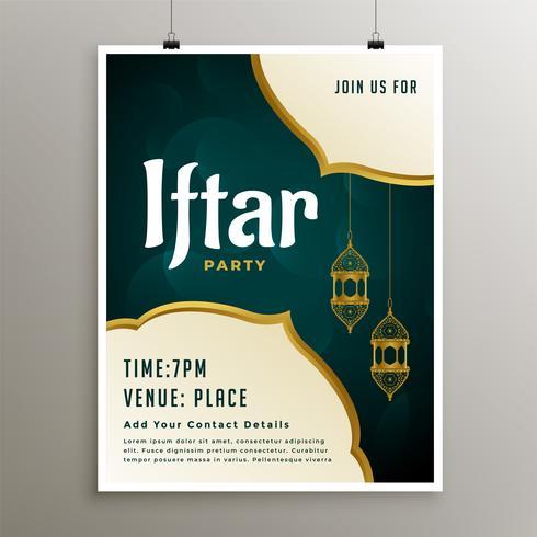Einladungsvorlage der iftar-Party