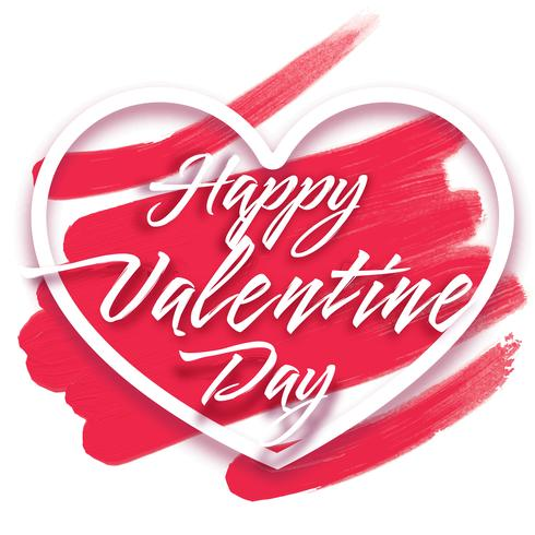 """Herzrahmen mit Text """"Happy Valentine's Day"""""""