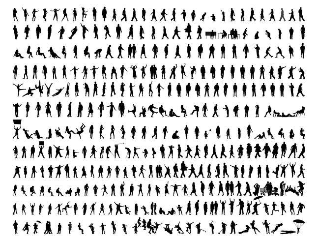 Les gens de silhouette vector modèle illustration design